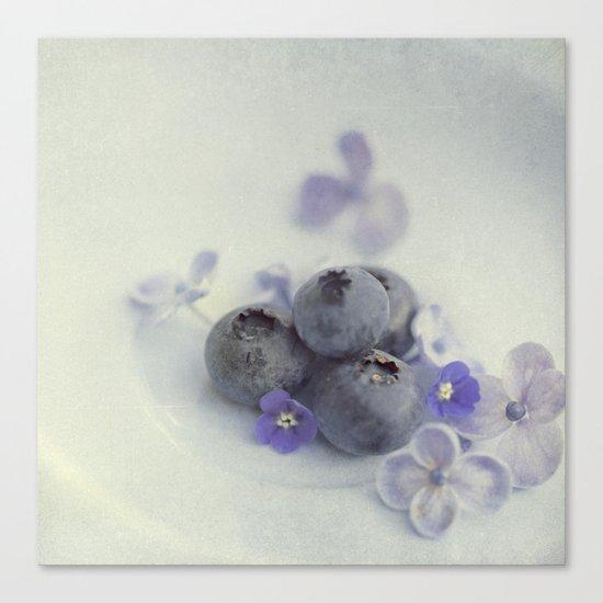 Blueberry Smile Canvas Print