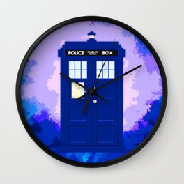 Tardis The Blue Phone Both Wall Clock