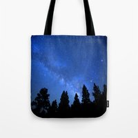 milky way Tote Bags featuring Milky Way by 2sweet4words Designs