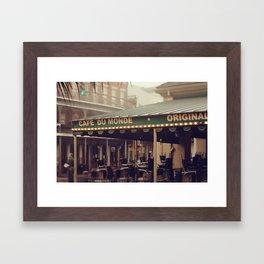 Foggy Cafe Du Monde Framed Art Print
