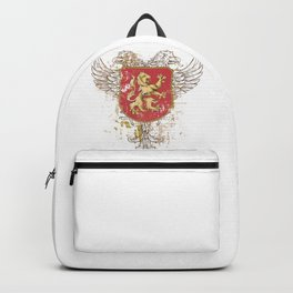 Coat of Arms Shield - Griffin Seal - Crown Lion and the Mark Backpack