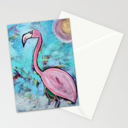 Flamingo at Sunset Stationery Cards