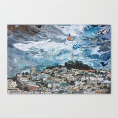 Starry Coit Tower Canvas Print