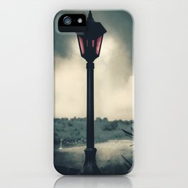 Angry in the dark iPhone Case