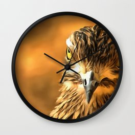 Attitude...With Feathers Wall Clock