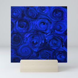 China Blue Rose Abstract Mini Art Print