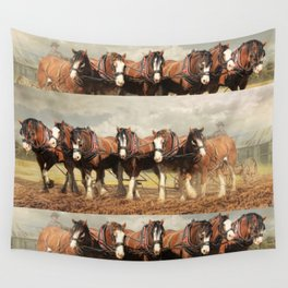 Horse Power Wall Tapestry