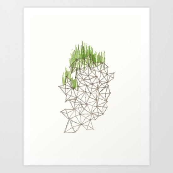 Geo'd Art Print