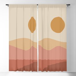 Geometric Landscape 23A Blackout Curtain