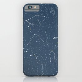 Star night constellations iPhone Case