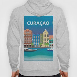 Curacao - Skyline Illustration by Loose Petals Hoody