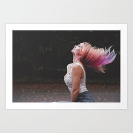 Enjoy Life #girl #adventure Art Print