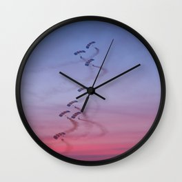The Sunset Falcons Wall Clock