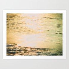 Squint -- Lomo Sunrise on the Surf Art Print