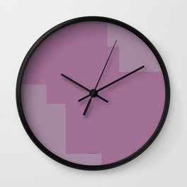 Pastel Pink Design Wall Clock