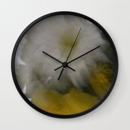 blur flowers Wall Clock