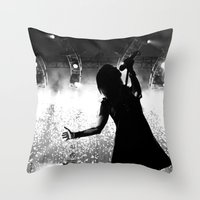 hayley williams Throw Pillows featuring Hayley Williams #2 by Ethan Luck