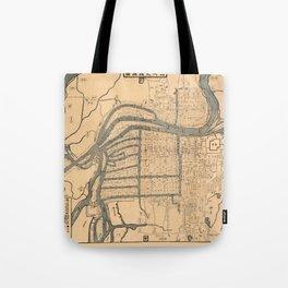 Map Of Osaka 1800 Tote Bag