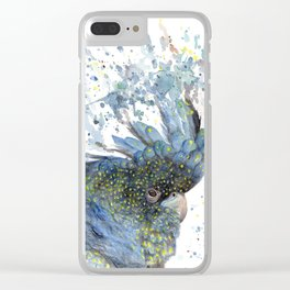 """Watercolor Painting of Picture """"Black Cockatoo"""" Clear iPhone Case"""