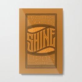 SHINE UPON YOU - Handlettering Verse Metal Print
