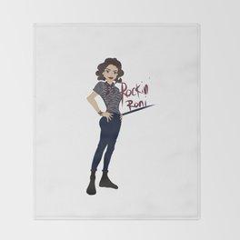 Rockin Roni - Regina - Lana Parrilla, Once Upon A Time Throw Blanket