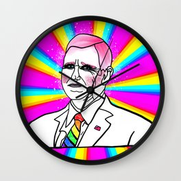 Gay Mike Pence Sparkling in Drag Wall Clock