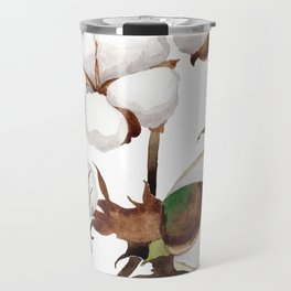 Cotton Flower Pattern 01 Travel Mug