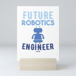 Robotic machine computer engineer Mini Art Print