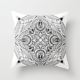 Lost Mandala  Throw Pillow