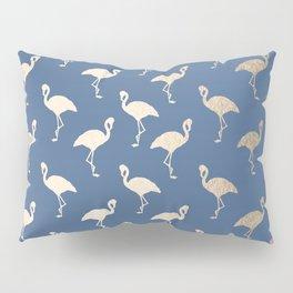 Gold Flamingo on Aegean Blue Pillow Sham