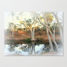 Ghost Gums by the Billabong Canvas Print