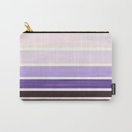 Purple Minimalist Watercolor Mid Century Staggered Stripes Rothko Color Block Geometric Art Carry-All Pouch