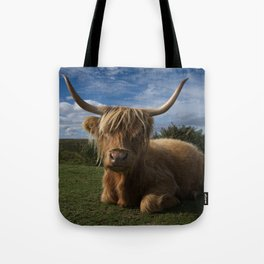 Rugged Highland Cow Tote Bag