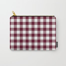 Gingham Bordeaux Carry-All Pouch