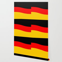 Black Red and Yellow German Flag Wave Wallpaper