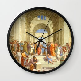 """Raffaello Sanzio da Urbino """"The School of Athens"""", 1509-1510 Wall Clock"""