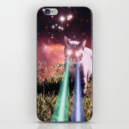 Mega Space Cat Rising iPhone & iPod Skin