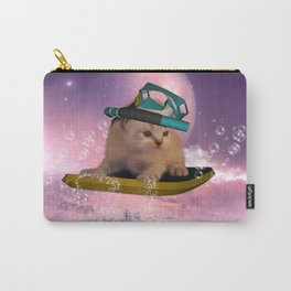 Cute surfing kitten Carry-All Pouch