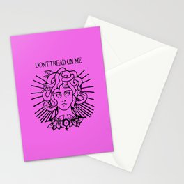 Medusa: Don't Tread On Me (Pink) Stationery Cards