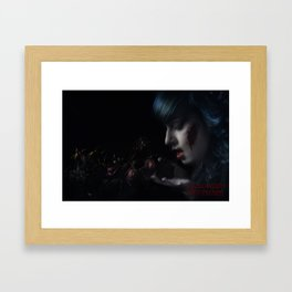 Halloween Nightmare Dead Flowers Framed Art Print