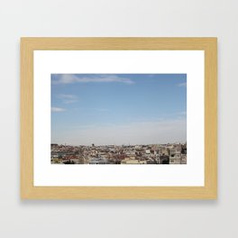 madrid skyline Framed Art Print