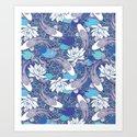 Blue Koi Ripples by amandadilworth