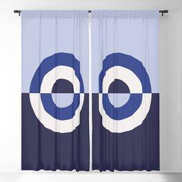 Circles - Big Blue Blackout Curtain