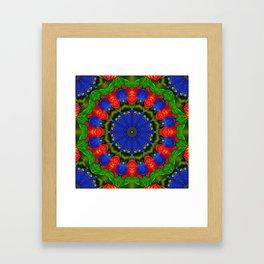 Feather Mandala 2 Framed Art Print