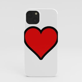 Bold Red Heart Shape Valentine Digital Illustration, Minimal Art iPhone Case