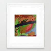 pain Framed Art Prints featuring Pain by ErikMcManusInc.
