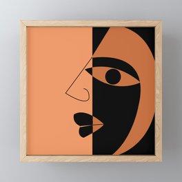 Abstract face Framed Mini Art Print