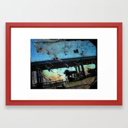 Pigeons on the South Causeway Framed Art Print