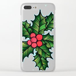Holly Days Clear iPhone Case