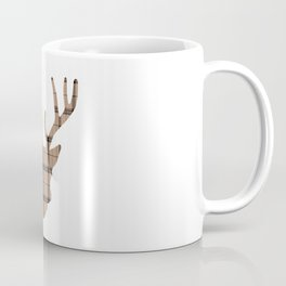 Plaid Deer Head: Brown Coffee Mug